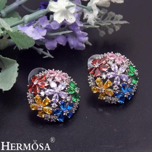 Beautiful Mixcolor Women Earrings Sapphiree Garnetcitrine Birthstone Jewelry 1 inch Free Shipping