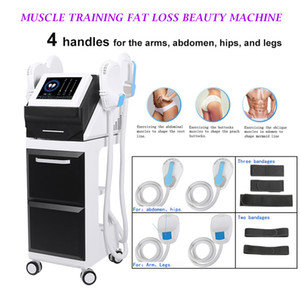 Più nuovo 4 maniglie Emslim ad alta intensità Elettromagnetico Muscle Building Body Sculpting Beauty Slimming Equipment Energy Toning Emslim