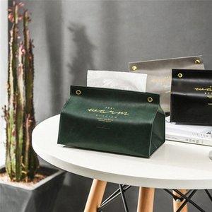 Nouveau tissu Porte-serviette Ins Nordic cuir tissu Boîte de papier distributeur Case Holder Pour les particuliers Décoration RdZu #