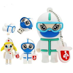 USB Flash Drive Cute Doctor Nurse Pendrive USB 2.0 Thumb Drives 128MB 1G 2G 4GB 8GB Dentist Memory Stick Cle USB