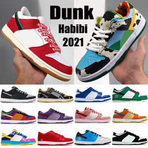 2021 New Dunk Men Zapatillas de baloncesto Habibi Sean Chunky Dunky Sombra Kentucky Viotech Votecnol Láser Láser Naranja Mujeres Mujeres Sneakers Entrenadores US 5.5-11