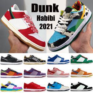 2021 New Dunk Men Tênis de Basquete Habibi Sean Chunky Sombra Dunky Kentucky Viotech Laser Laser Low Mens Mulheres Sneakers Treinadores US 5,5-11