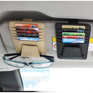 1Pc Auto-Styling Universal Car Visor CD DVD Case Holder Multifunctional Storage Cleaning Sunglasses Ticket Tas Card Organizer Car Storage