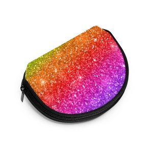 Wal Frauen Zipper Geldbörsen Clutch Wallet Female Geld Kreditkartenetui Multicolored Glitter Gradient