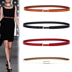 New Fashion Women's Genuine Leather Belts Design thin soft cowhide Belt for women Punk silver Buckle cow Leather Strap for Dress LJ200901