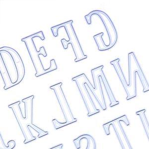 5cm Grand grand grand alphabet Lettres Coupe Meurt Stenceurs Métal pour Carte de Scrapbooking Diy Scrapbooking Grafting Craft