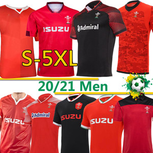Galles Rugby National Team Jerseys Cymuu Home Red Away uomo Polo T-Shirt E Uomo Formazione da rugby Jesy Uniformi 2020 2021 S-5XL