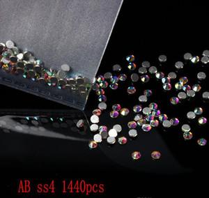 10bag set (1440pcs bag) Flat Back Ab Color Crystal Nail Rhinestone 3d Jewelry Glass Diamond Gems Nail Art Deco sqczRO bdehair