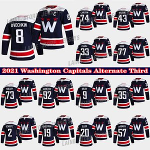 Washington Capitals Jersey Alternatives Dritter 8 Alex Ovechkin 19 Backstrom 77 TJ Oshie 43 Tom Wilson 74 John Carlson 33 Chara Hockey Trikots