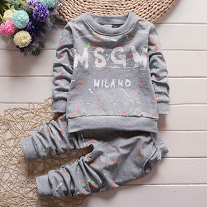 3 colors Toddler Baby Boys Clothes T Shirt+Pants children's Sportswear Clothes clothing autumn kids designer clothes sets 1-4Years