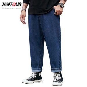 Jantour 2021 Men'S Stretch Jeans Plus Fertilizer Plus Extra Size Loose Wide-Leg Pants Fat Fashion Straight Wear Pants 3 Colour