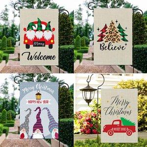 Bandeira de Natal Decoração de Natal Garden Gnomes bonito do anão do tema da bandeira para o exterior Quintal Decoração 15 estilos Escolha HH9-3384