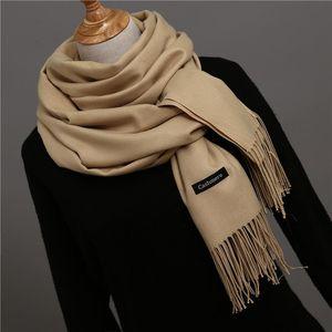 [Lakysilk] Высокое качество шарф Женщины Кашемир Soild Мягкая зима ScarvesShawls дамы грелка Long Foulard Femme Хиджаб