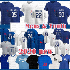 Mookie Betts Baseball Jersey Enrique Hernandez Cody Bellinger Clayton Kershaw Corey Segarder Justin Turner Los Custom Angeles Julio Urias 24