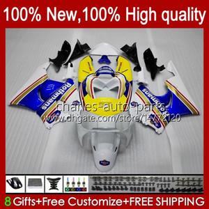 Kit carrosserie pour HONDA CBR919 RR CBR900 CBR900RR CBR 919RR 900RR 919CC 93HC.9 Rothmans Bleu CBR919RR 98 99 CBR 900 RR 919 CC 1998 1999 Carénage
