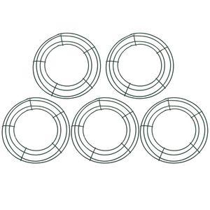 5pcs ferro corona cornice cornice rotonda corona di rendimento anello fai da te macrame artigianato floreale