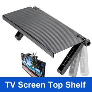 Bilgisayar Masaüstü için Ayarlanabilir TV Ekranı Üst Raf Görüntü Organizatör Depolama Raf Tutucu Monitör Dağı TV Box Uzaktan Ev Depolama Standı