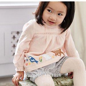 새로운 2019 아기 소녀 옷 세트 긴 소매 100 % 짠된 티셔츠 품질 Corduroy 반바지 2pc 어린이 양복 Bebe 키즈 Outfitsx1019