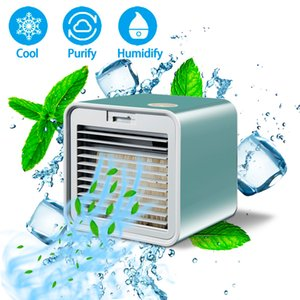 New Mini Portable Air Conditioner Humidifier Purifier Air Cooler Desktop USB Air Cooling Fan Device Office Home Conditioning