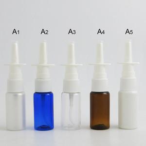 100 x 15 ml Aire libre Vacío de plástico PET Nasal Spray Botella 15cc aerosol nasal atomizador de plástico 100pcs