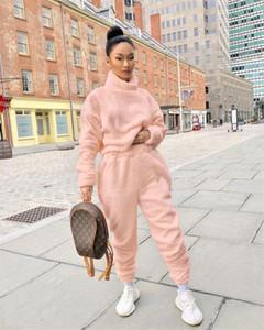 Women Two Piece Outfits Autumn Winter 2PCS Pants Set Warm Sweater Designer Suits Casual Women Clothes