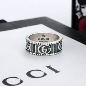 Moda anelli d'argento cranio 925 moissanite anelli Bague per uomo e donna festa di nozze gli amanti della gioielleria impegno regalo con scatola 002