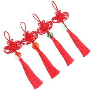 3 stücke Neue Stil Chinesische Knoten Jade Tasse Keychain Caps Riemen DIY Schmuck Machen Charms Anhänger Handwerk Zubehör Handwerk Tassel H Jllenz