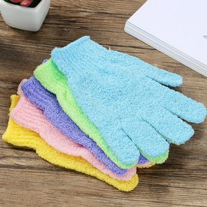 Cloth Mitt Exfoliating Face or Body Bath Scrub Moisturizing Gloves Home Household Cleaning Supplies Wholesale OWE2005