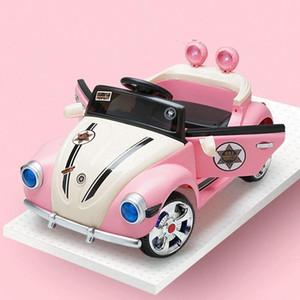 infantil Kids eléctrica Dual Drive Car linda princesa en las cuatro ruedas del vehículo a distancia Control de bebé de juguete del coche eléctrico para el Paseo de los cabritos en
