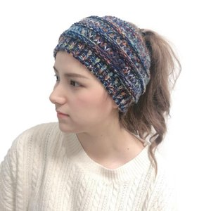 Knitted Crochet headband autumn winter new women Sports Head wrap Hairband Fascinator Hat Head Dress Headpieces Party Favor DDC2950