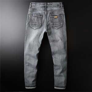 2020 Classic Denim Mens Jean Elasticity Jeans For Men Casual Long Pants Trousers High Quality Biker Jeans Brand Clothing 40