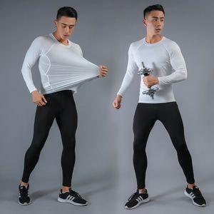 New Men's Sportive Workout Imprime Apertada Compressão de Pele Terno Homens MMA Rashguard Top Fitness Body Body Building Sport