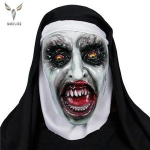 Waylike The Nun Mask, Hood Adult Scary Horrible Halloween Mask For Women Costume Masquerade For Party