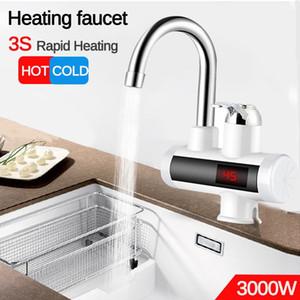 3000W Calentador de agua del grifo de la cocina eléctrica Calentadores de agua fría del grifo de calefacción del grifo de agua sin tanque calentador gratuito