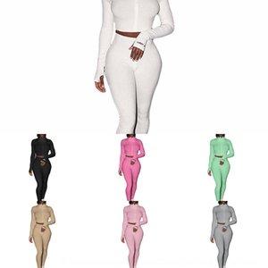 USJX Pullover Fall Women 2 Piece Набор Простые Боунот Стертуалы с длинным рукавом Костюм Зима Повседневная Одежда S-2XL Толстовки Брюки Пробежка Capris 432