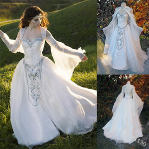 Medieval Women Gothic Forest Elf Queen Fairy Tale Bridal Dress Costume Angel Party Cosplay Anime Fairy Shawl Dress S-5XL