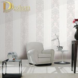 European Damascus Floral Wallpaper for Walls 3D Textured Flooring Stripes Wall Paper Living Room Bedroom Decoration