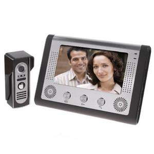 Visuel Intercom Sonnette 7 « » TFT LCD couleur filaire vidéophone système intérieur Moniteur 700TVL extérieur IR Caméra support Unlock