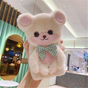 Para Apple iPhone 12 11 Pro XS Padrão Urso Max XR Comfort telefone Tampa traseira do caso Inverno Capa