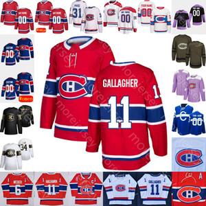Personalizzato 2021 Montreal Canadiens Ice Hockey Jersey Jacques Planté Doug Harvey Emile Bouchard Josh Anderson Armia Byron Chiarot Danault Drouin
