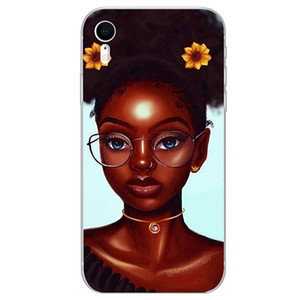 Black Girl I-phone 12 Phone Case Cell Cover Shell For Iphone 12 Max Pro 11 Moblie Phone Cover Shell Cell Cases