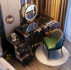 Nordic Light Luxus-Ankleideretisch Modern Einfaches Schlafzimmer Kleine Einheit Lagerschrank Net Rot Ins mit leichter Schminktisch