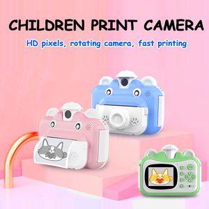 1080p niños de impresión instantánea de la cámara lente giratoria regalos 1080P HD mini cámara para niños Juguetes para niños de 9 mini-mini película instax instax