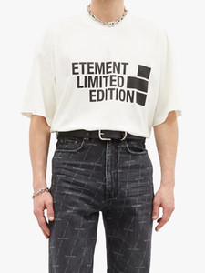 21SS EUROPE FRANCIA VETEMENTES BORREOBERY PRANK FRENTE BIG LOGO TSHIRT Moda Hombres T Shirts Ropa de mujer Casual Algodón Tee