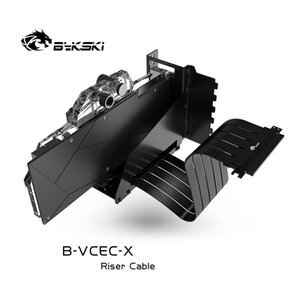 Bykski B-VCEC-X B-PCI-E-X GPU Extension Cable Graphics Card GPU 90 Degree Stand Line VGA Support Cable Extender Holder