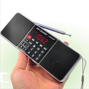 TFCard의 USB 디스크 LED 화면 음량 조절 충전식 스피커 LJ201027 블루투스 스테레오 휴대용 FM 라디오 스피커 음악 플레이어