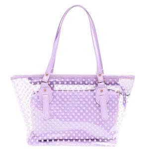 OCARDIAN Handbags Summer Bags For Women 2020 Plastic Wave Point Transparent Beach Shoulder Bag Handbag + Clutch M28