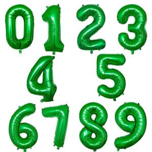 LQDT الجديدة 40inch دش احباط عدد البالونات الخضراء عدد بالونات حزب الغابة الهليوم بالون ولد عيد الميلاد الطفل Globos ديكور
