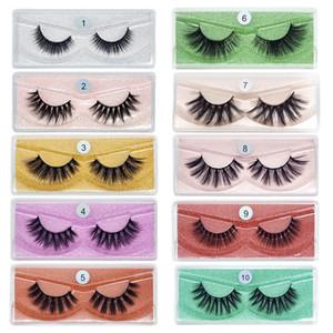 Wholesale 10 styles false Lashes Natural False Eyelashes Long Set faux Bulk Makeup wholesale lashes different style 1000 pairs