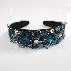 Luxury Charm Crystal Water Drop Baroque Headband Queen Crown Tiara Headwear Women Wedding Hair Jewelry Fashion Christmas Gift J 190430